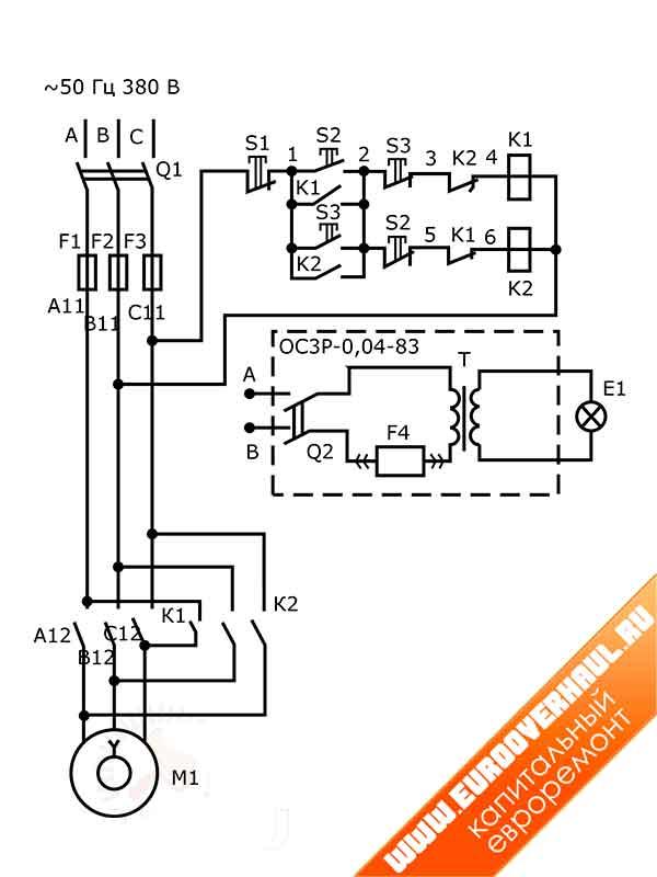 Простая электрическая схема для заводского станка 2М112.