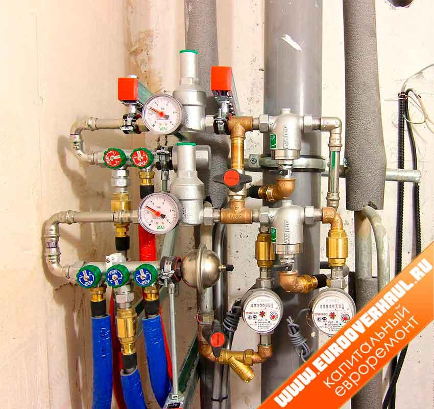Регуляторы давления воды с регулировкой.