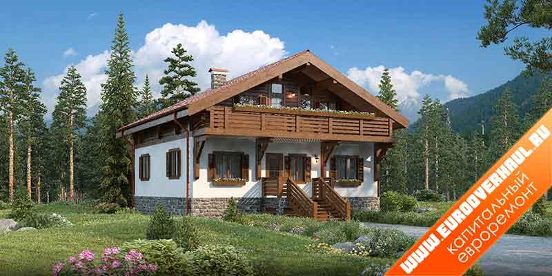 Дизайн дома снаружи.