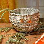Базовое плетение из газетных трубочек