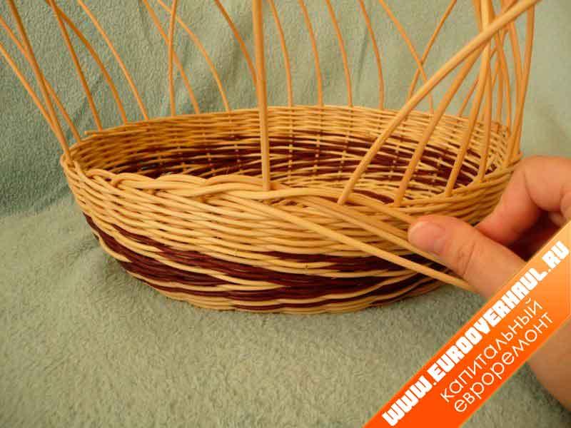 Плетение веревочкой из газетных трубочек