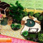 Ландшафтный дизайн двора частного дома.