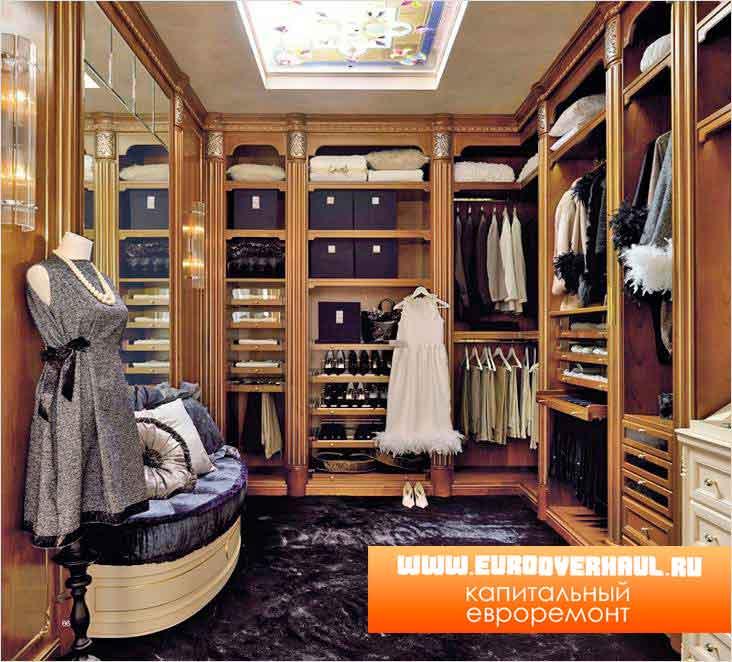 Дизайн гардеробной.