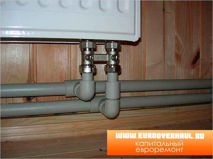 Радиатор отопления с нижним подключением.